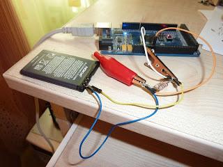 testador de baterias com Arduino