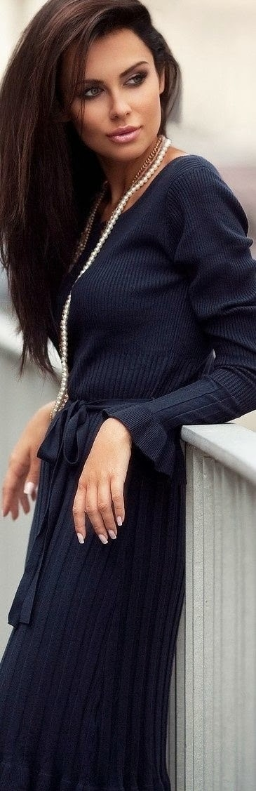 Amazing Sweater Dress with Suitable Necklaces