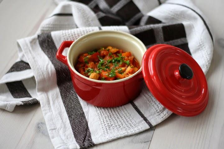 Курица с овощами и чечевицей, приготовление - 30 минут