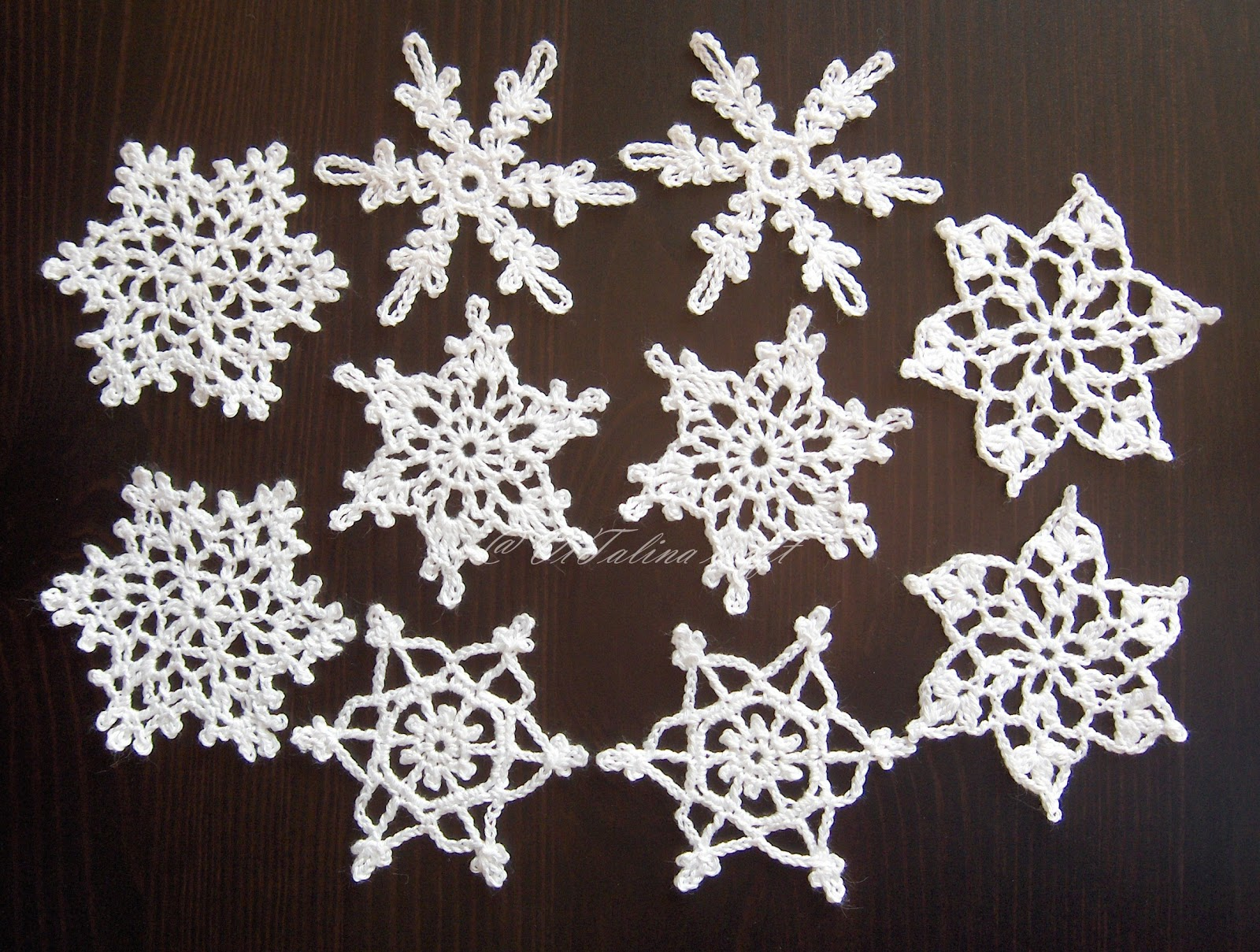 Best Scarf Knitting Patterns : Crochet snowflakes for sale ViTalina Craft