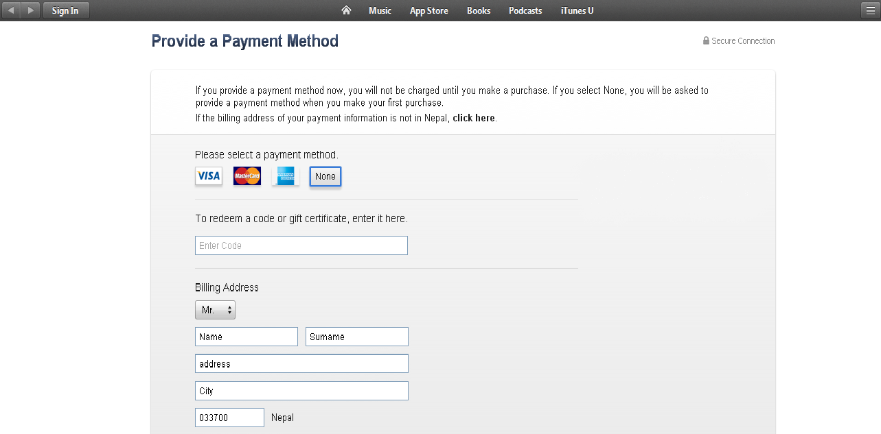 How To Create A Free Apple Id For Nepal CREATE APPLE ACCOUNT FOR - Us zip code for apple id