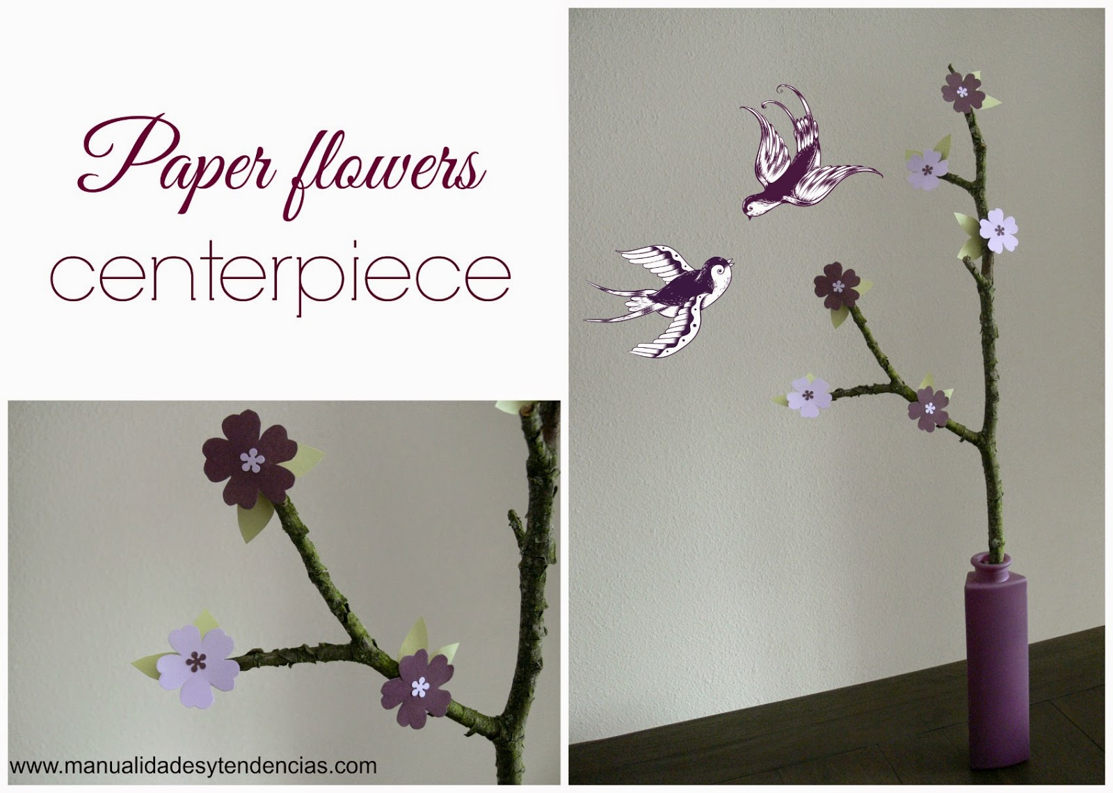 Paper flowers centerpiece