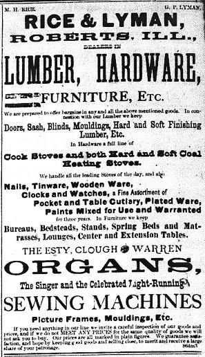 Rice & Lyman 1881 Ad