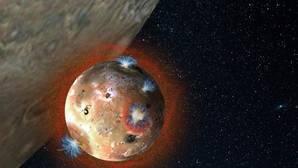 El gran lago de lava de una luna de Júpiter