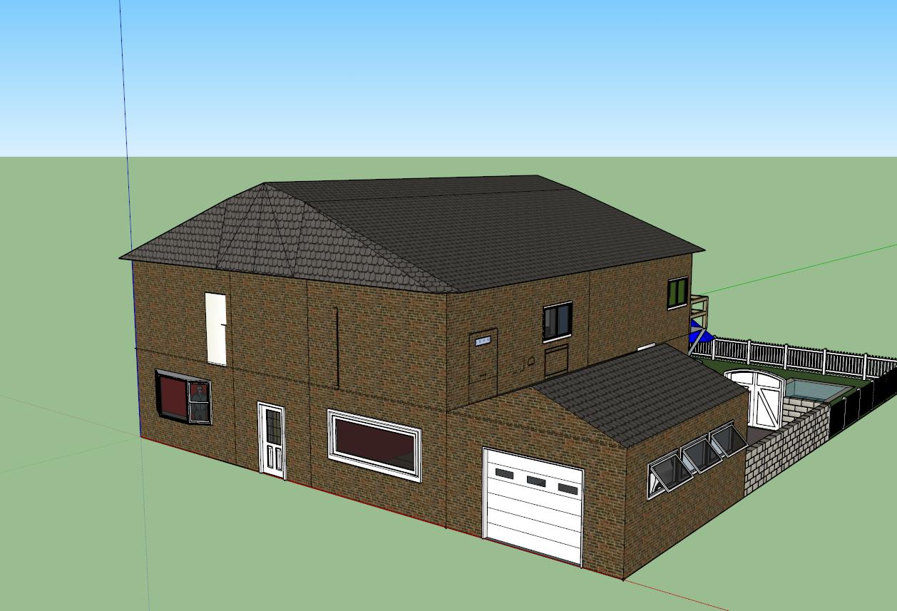 Casa con sketchup 2015 inform tica la palmita for Programa amueblar habitacion