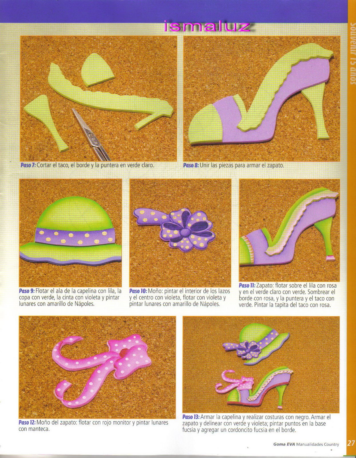 Moldes De Zapatos En Foami