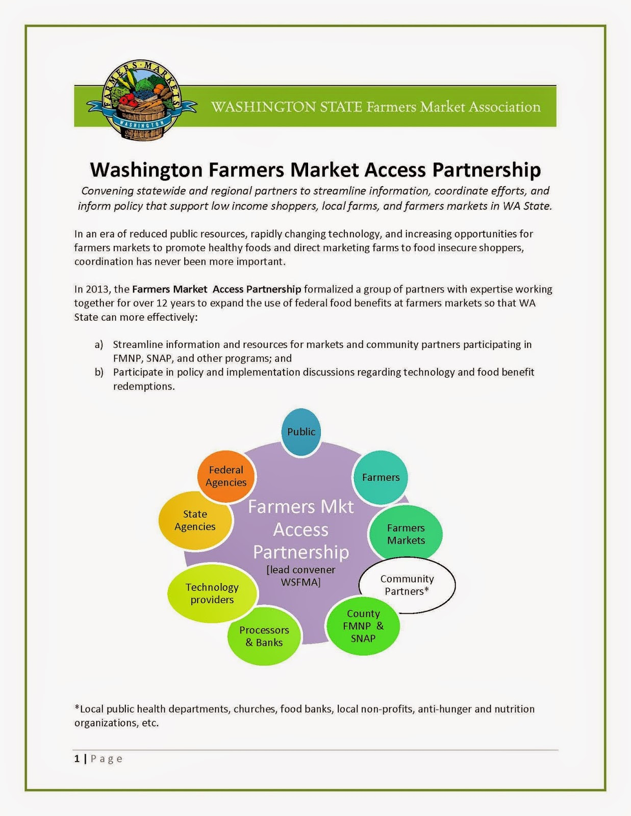 Which Connects Local Government Agencies Andmunity Nonprofits With Farmers  Markets That Serve Low Incomemunities Using Federal
