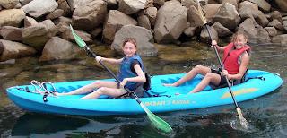 Kayaking at Aloha Beach Camp Summer Camp in Los Angeles.