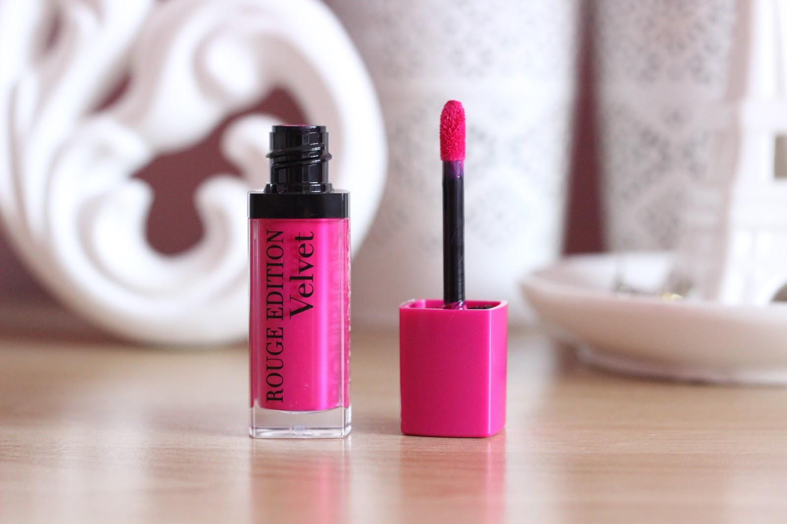 bright matte pink lipstick