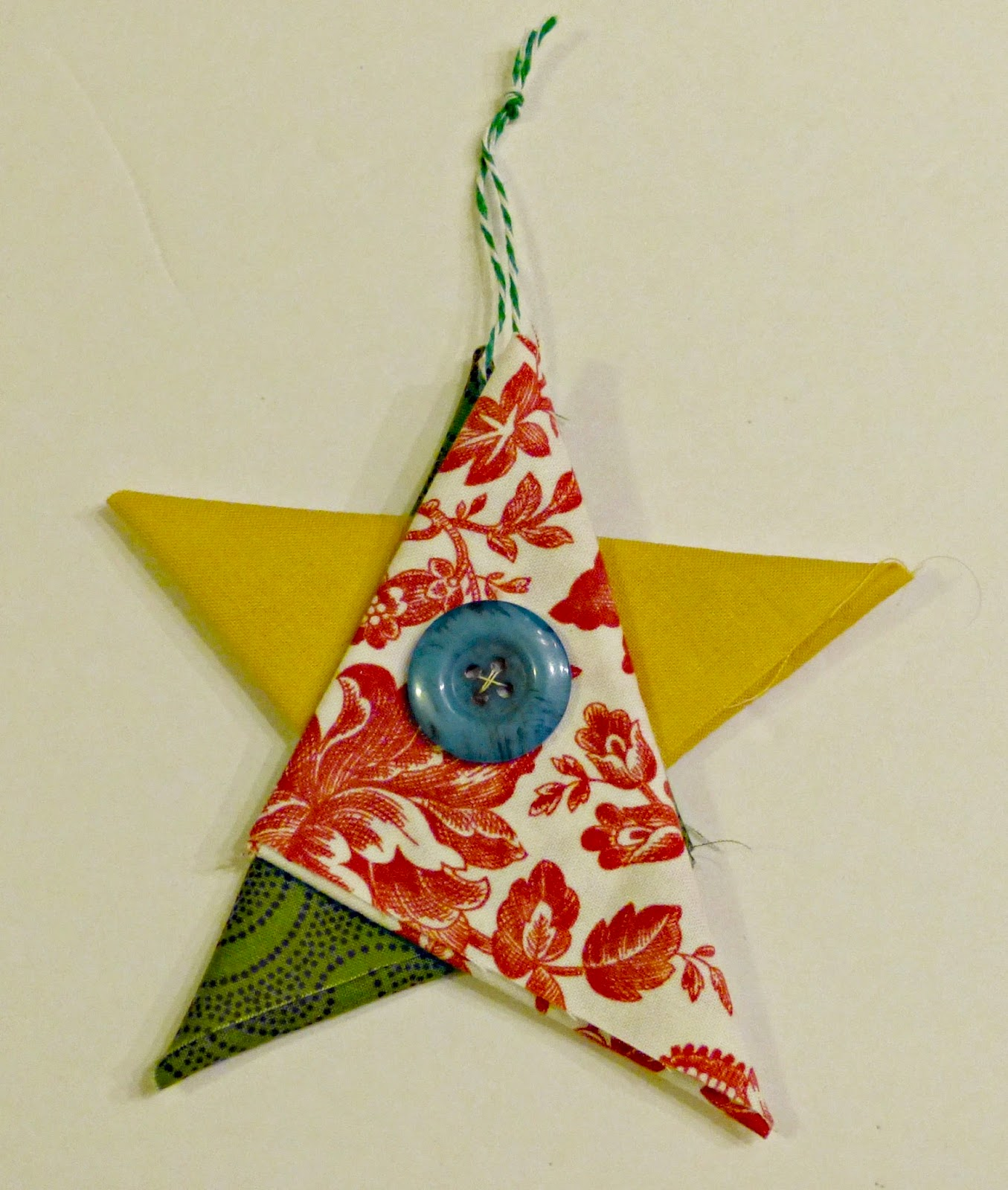 felicity quilts tutorial folded fabric star ornaments