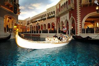 Image d'une gondole à l'hôtel The Venetian