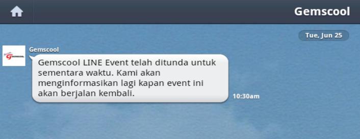 nah bagi anda yang telah menyalah gunakan event g cash gratis line