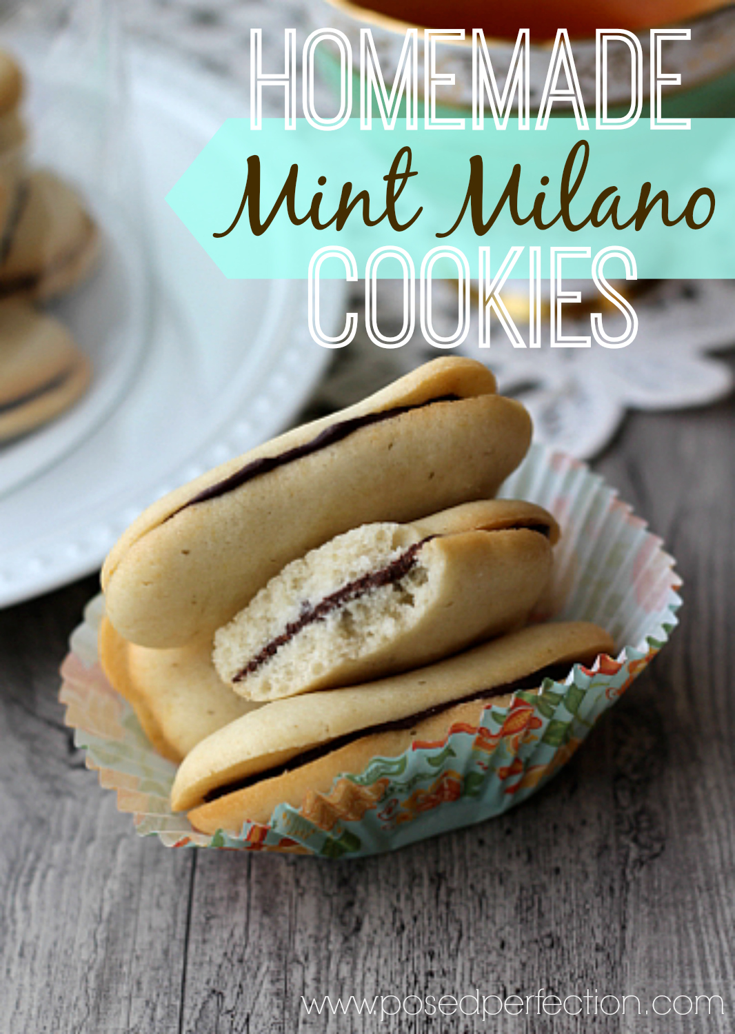 These Homemade Mint Milano Cookies are such a good imitation, you won't even miss the real thing!