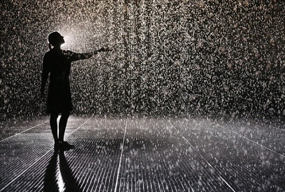 rain room in MoMa