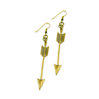 Arrow Earrings $38 Gwen Delicious vintage jewelry. $25 giveaway ends 8/6! #clevernest #antique #necklace #findings