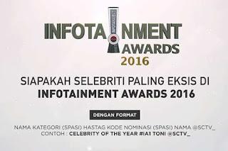 Daftar Pemenang Infotainment Awards SCTV 2016