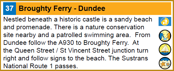 Description of Broughty Ferry Beach