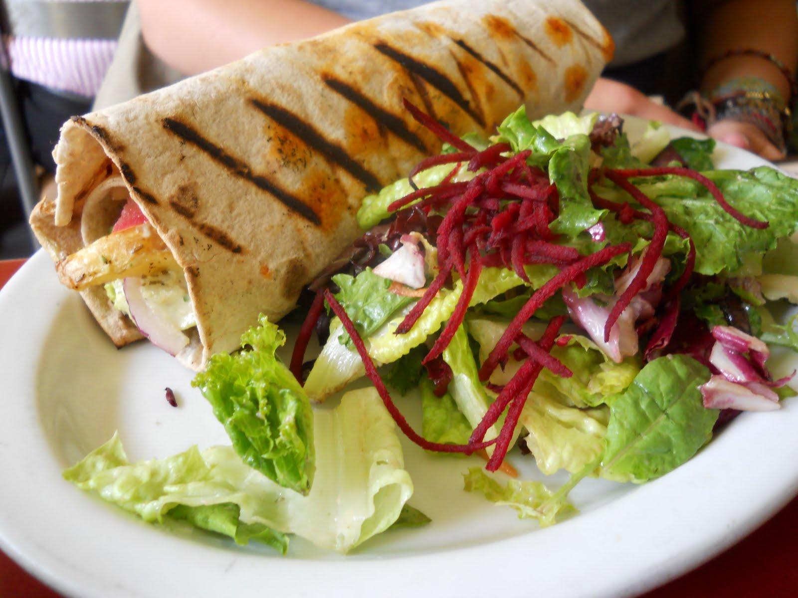 Several vn staffers enjoyed herbivore s signature shawarma eggplant