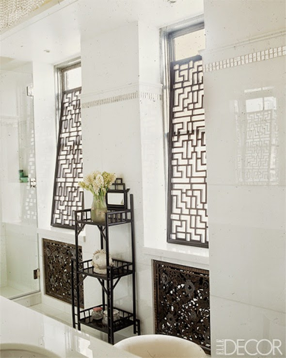 fretwork screen in Candia Fisher apartment designed by James Aman