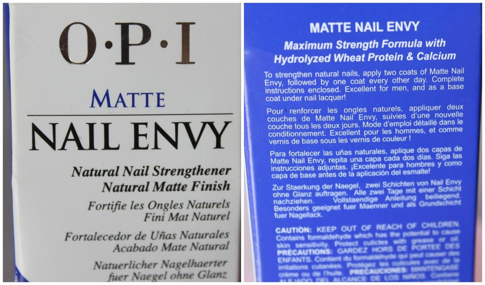 Australian Beauty Review: Nail Polish of the week: OPI Matte Nail Envy