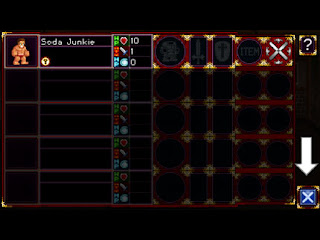 Soda Dungeon ステータス画面