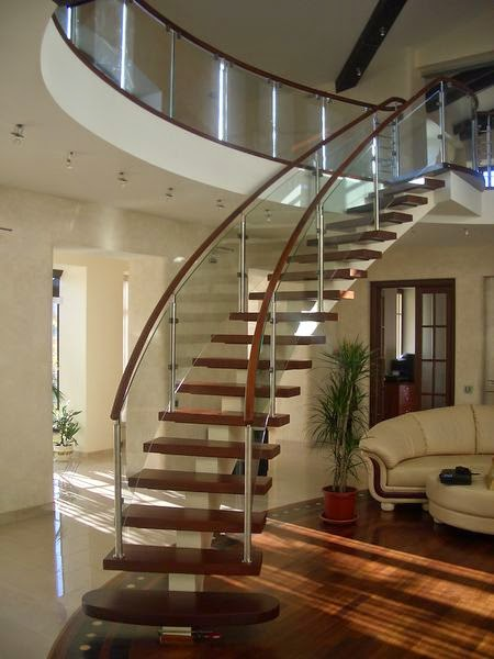 glass staircase panels railings and designs. Black Bedroom Furniture Sets. Home Design Ideas
