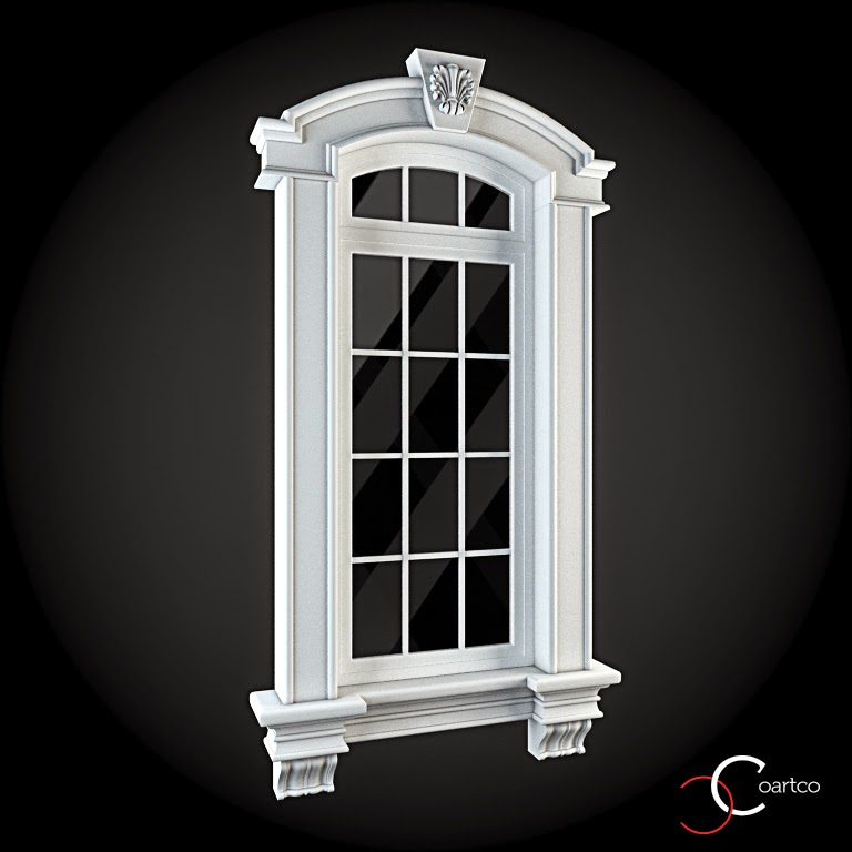 Ornamente Geamuri Exterior, fatade case cu profile decorative polistiren, profile fatada,  Model Cod: WIN-039