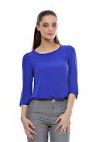 Bluza albastra din voal B03 (Ama Fashion)