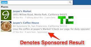 Facebook Sponsored Results
