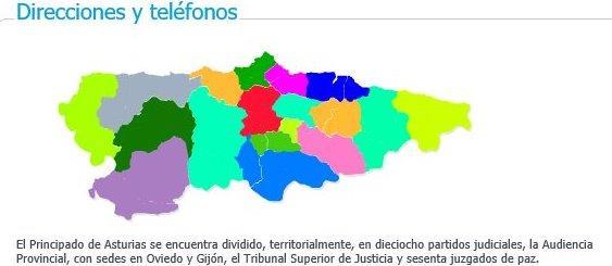 Direcciones y teléfonos Asturias