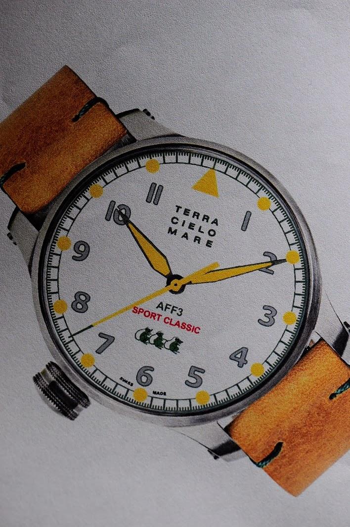 スポクラのオーナーの為に主人が考案デザインしたsports-classic TCM ライダー専用のAFF3 オリジナルウォッチです。