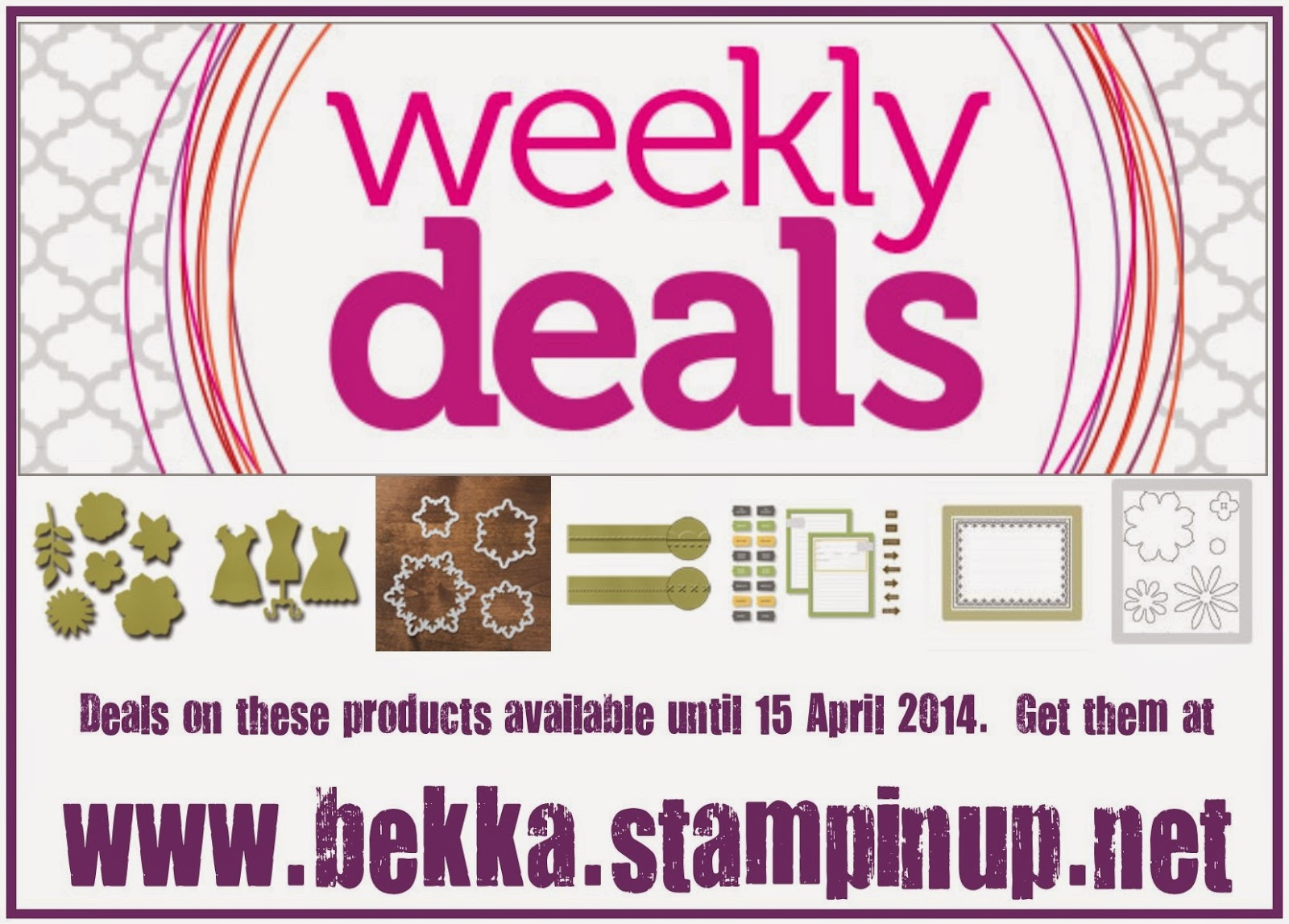 Stampin' Up! UK Weekly Deals 9-15 April 2014 - grab them at www.bekka.stampinup.net