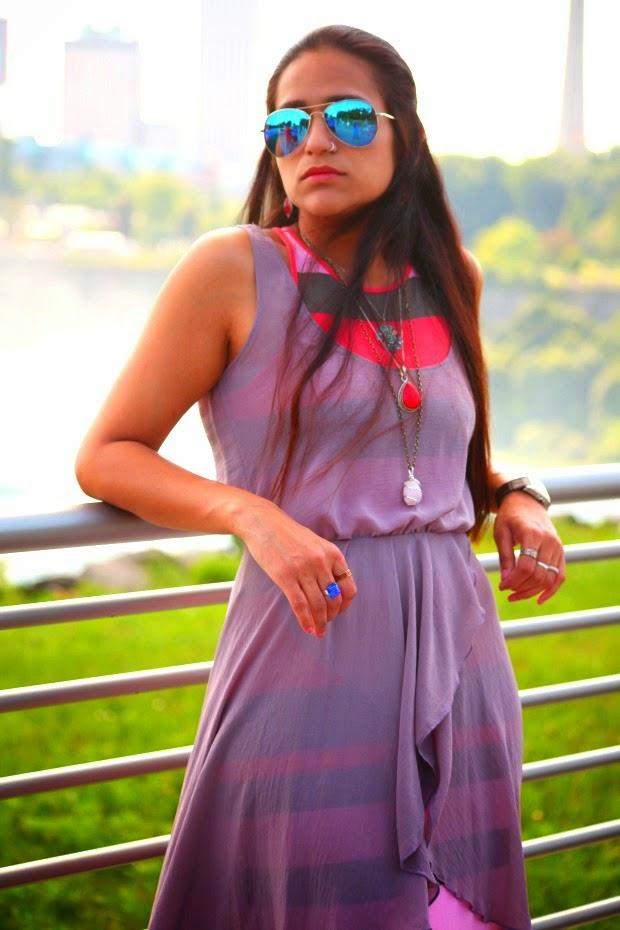 Dress - Banana Republic, Footwear - Chinese Laundry, Jewelry - From Bhutan, Tanvii.com