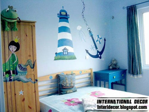 blue theme for kids room, kids room themes decorating ideas