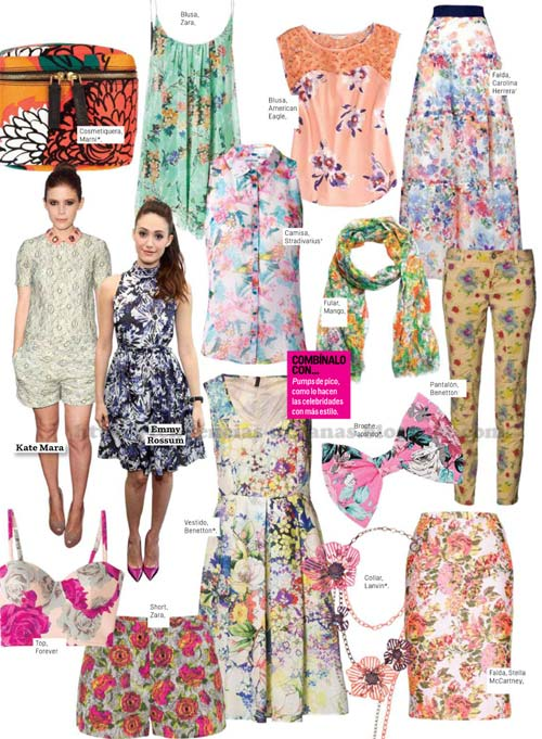 Looks de moda de estilo floral verano 2014
