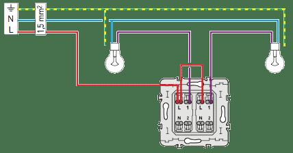 Schema electrique sch ma lectrique double allumage le grand - Schema electrique simple allumage ...