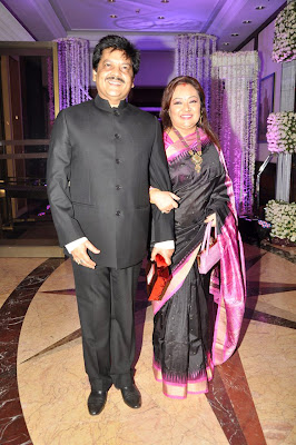 Udit Narayan at Sunidhi Chauhan's wedding reception