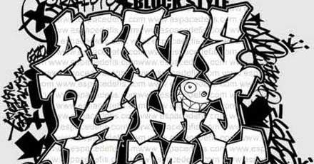 how to draw graffiti alphabet