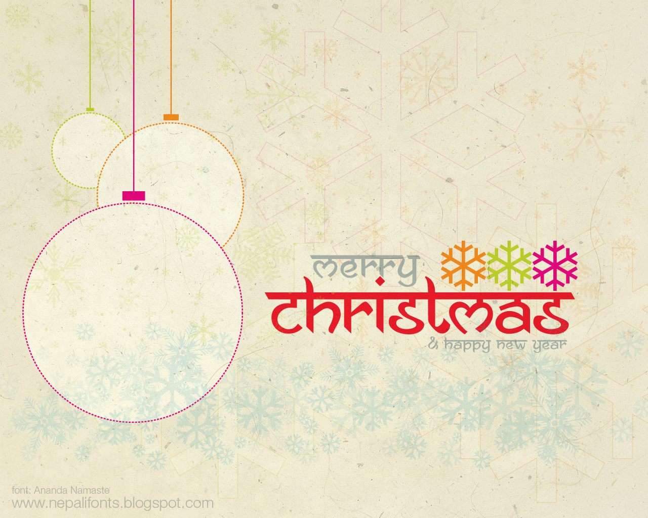 New Nepali Fonts Merry Christmas Happy New Year Greetings