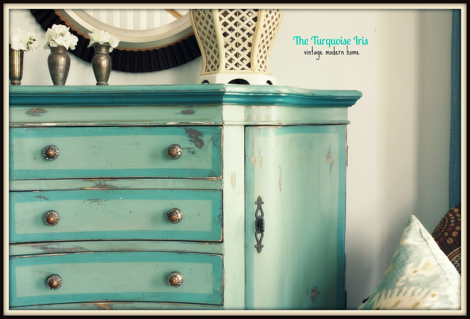 green painted furniture. Teal, Blue \u0026 Green Painted Entry Chest Furniture
