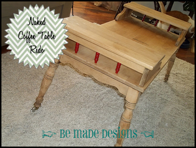 Naked Coffee Table Redo {be made designs}