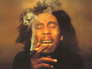 Bob Marley Smoking Water Paint HD Wallpaper