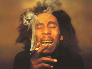 Bob Marley Smoking Water Paint HD Wallpaper