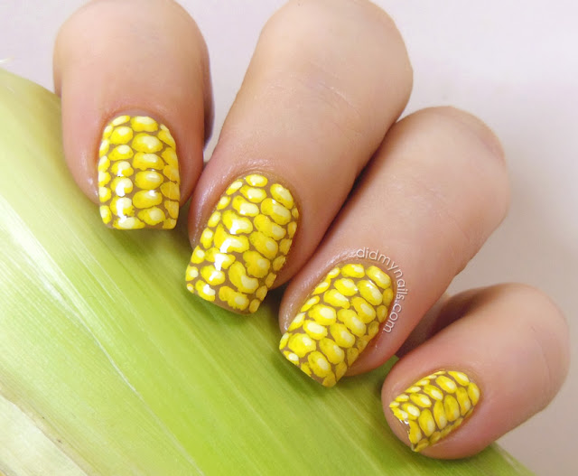 nail art for corn on the cob day