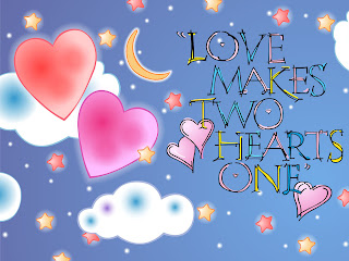 Love Makes Two Hearts One Love Wallpaper