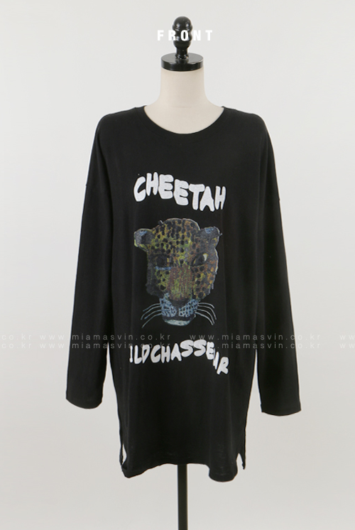 Oversized Cheetah Print T-Shirt