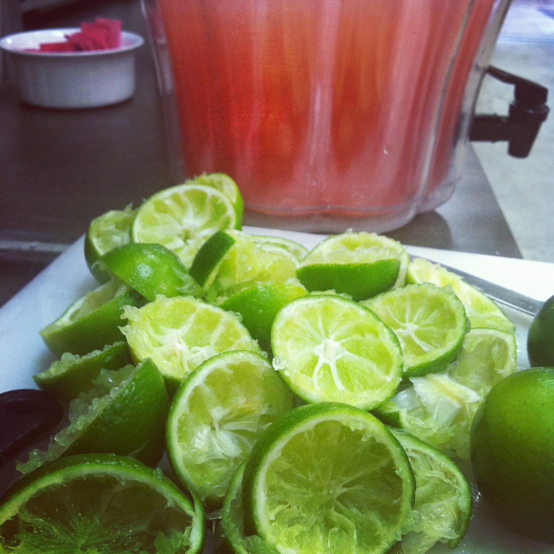 ... strawberry limeade , mango ague fresca , and now- watermelon limeade