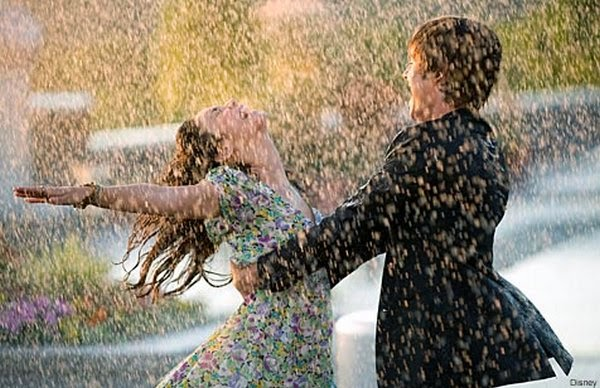 Romantic Couple in rain