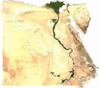 Imagen de satélite del Valle del. Nilo.