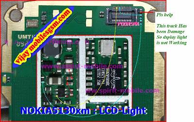 Nokia 5130 Display light Problem